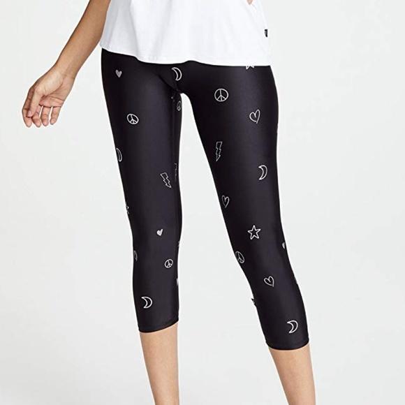 3ab9b541a7f4a Terez Pants | Doodle Foil Tall Band Capri Leggings Nwt | Poshmark